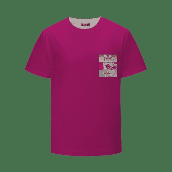 Dark Pink Roll It Lick It Puff It Sexy Marijuana T-Shirt