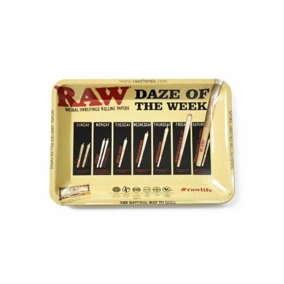 Daze of the Week Raw Life Marijuana Blunt Rolling Tray