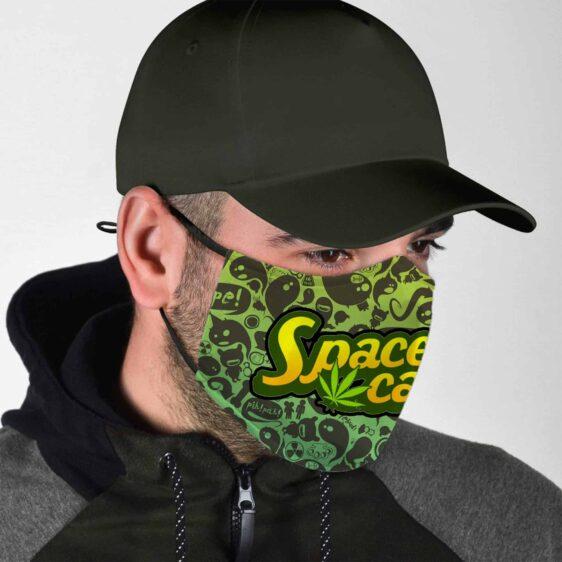 Dope Space Cake Trippy Marijuana Face Mask