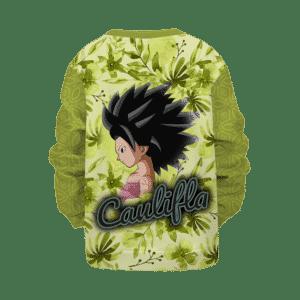 Dragon Ball Caulifla Floral Green Yellow Retro Sexy Kids Sweatshirt