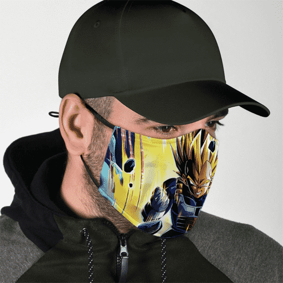 Dragon Ball Charging Super Saiyan Vegeta Dokkan Art Cool Face Mask