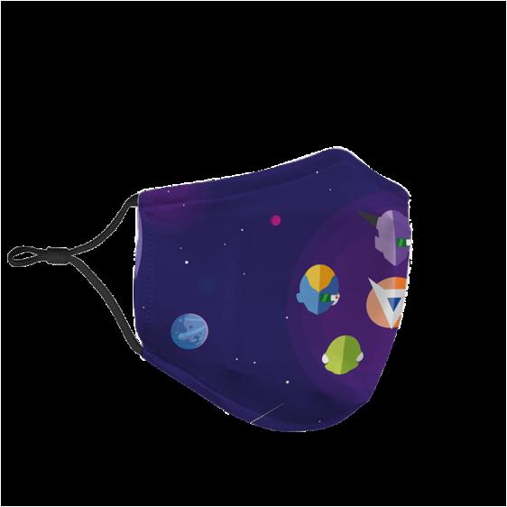 Dragon Ball Ginyu Force Cartoon Vector Galaxy Purple Face Dust Mask