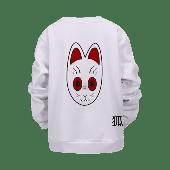 Dragon Ball Grandpa Gohan Kitsune Mask White Kids Sweater
