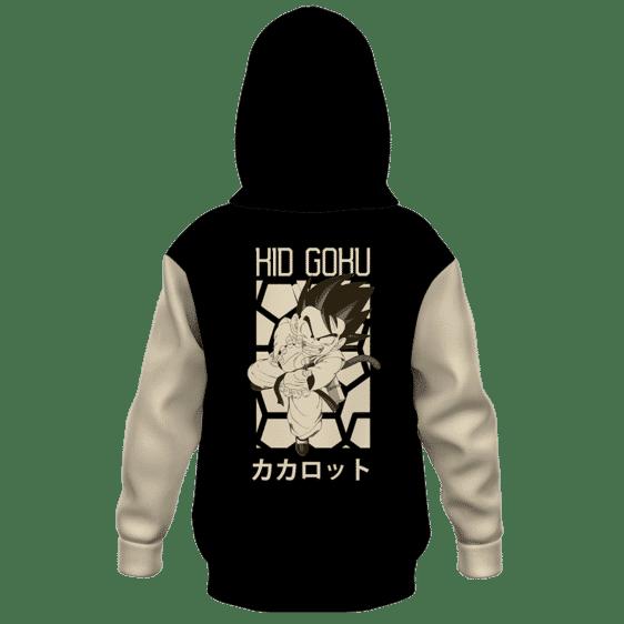 Dragon Ball Kid Goku Kamehameha Retro Style Art Kids Hoodie