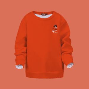 Dragon Ball Kid Goku Nike Orange Kids Pullover Sweatshirt