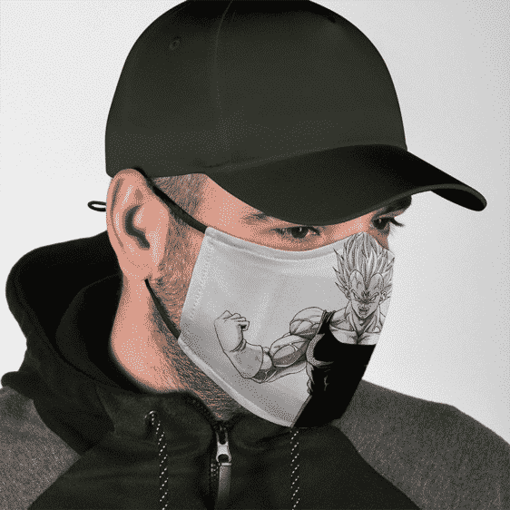 Dragon Ball Majin Vegeta Energy Charge Stencil Art Dust Mask