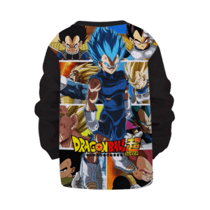 Dragon Ball Super All Vegeta Forms Saiyan Blue Kids Pullover Sweater