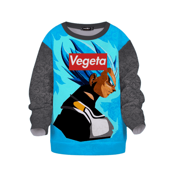 Dragon Ball Super Saiyan Blue Vegeta Vector Cool Kids Sweatshirt