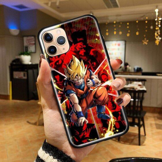 Dragon Ball Super Saiyan Goku God iPhone 12 (Mini, Pro & Pro Max) Cover
