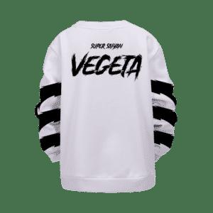 Dragon Ball Super Saiyan Mad Vegeta White Kids Pullover Sweater