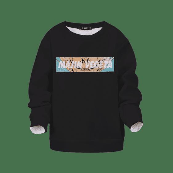 Dragon Ball Super Saiyan Majin Vegeta Black Kids Pullover Sweater