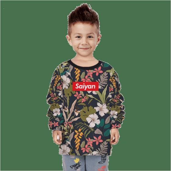 Dragon Ball Supreme Saiyan Breezy Floral Kids Sweatshirt