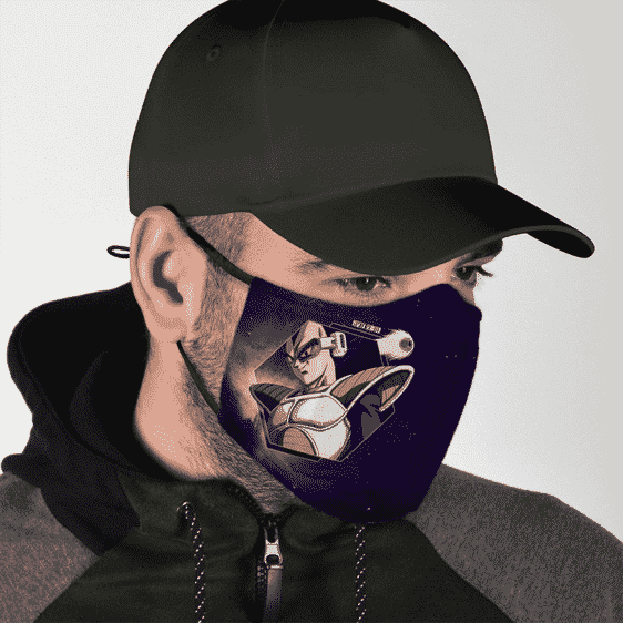 Dragon Ball Vegeta Scouter Purple Galaxy Dust Face Mask
