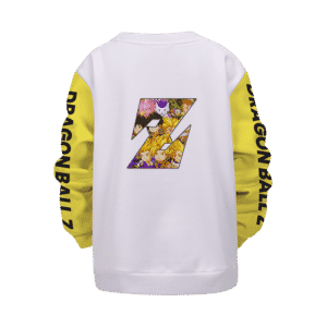 Dragon Ball Z All Fighter Z Saga Awesome Art Kids Sweatshirt Back