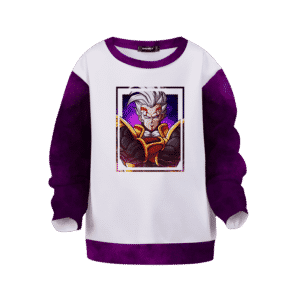 Dragon Ball Z Baby Vegeta Awesome Art White Purple Kids Sweatshirt