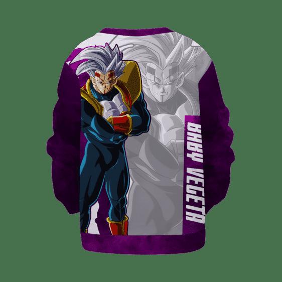 Dragon Ball Z Baby Vegeta Awesome Art White Purple Kids Sweatshirt