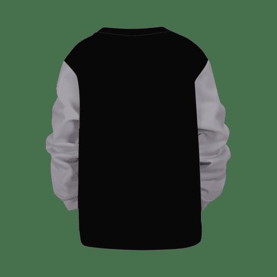 DBZ Black Goku Minimalist Black and White Kids Sweatshirt