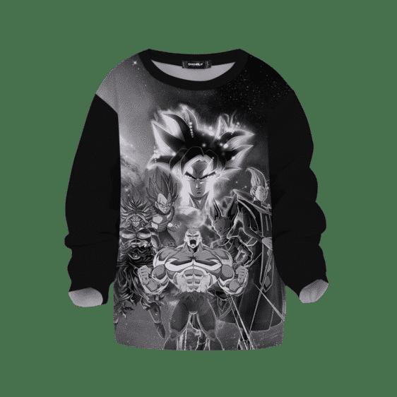 DBZ Black White Goku Vegeta Broly Beerus Whiz Jiren Kids Sweater