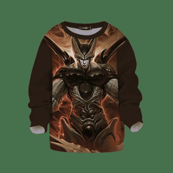Dragon Ball Z Cell Cool Charging Painting Art Kids Sweatshirt