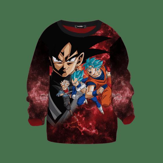 Dragon Ball Z Dokkan Goku Vegeta Trunks Red Kids Sweatshirt