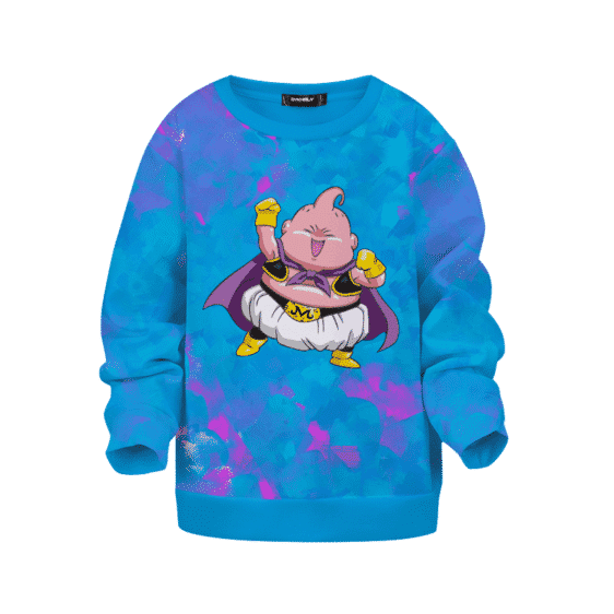 Dragon Ball Z Fat Boo Washed Cotton Candy Colors Kids Sweatshirt