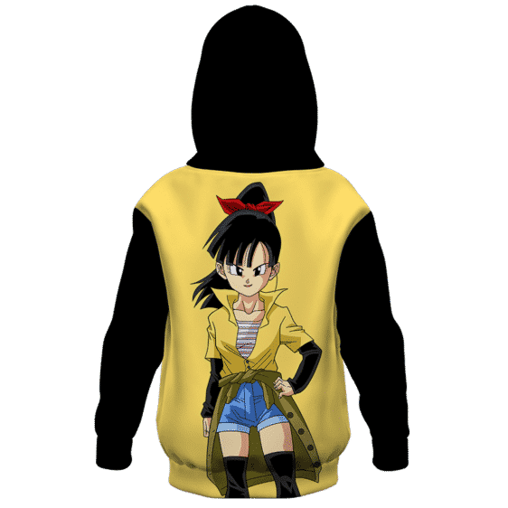 Dragon Ball Z Fierce Note Game Face On Kids Hoodie Back