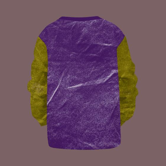 Dragon Ball Z Frieza Purple Gold Yellow Washed Kids Sweatshirt