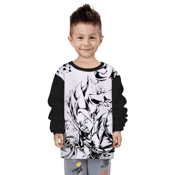 Dragon Ball Z Gogeta Artistic Anime Line Art Awesome Kids Sweatshirt