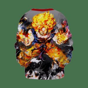 Dragon Ball Z Goku Charged-Up Awesome Artwork Kids Sweatshirt