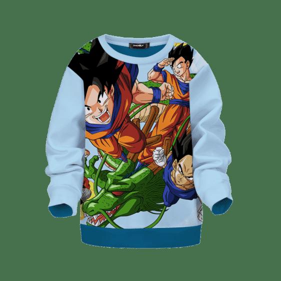 Dragon Ball Z Goku Flying Shenron Gohan & Vegeta Kids Sweatshirt