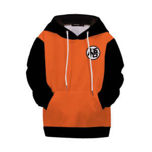 Dragon Ball Z Goku Kanji Black Orange Style Kids Hoodie