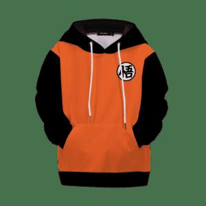 Dragon Ball Z Goku Kanji Black Orange Style Kids Hoodie