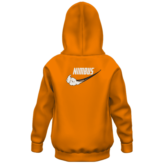 Dragon Ball Z Goku Nimbus Nike Inspired Kids Hoodie Back