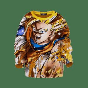 DBZ Gohan Super Saiyan Awesome Art Kids Sweatshirt