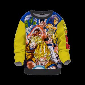 Dragon Ball Z Fighters Classic Team Yellow Kids Sweatshirt