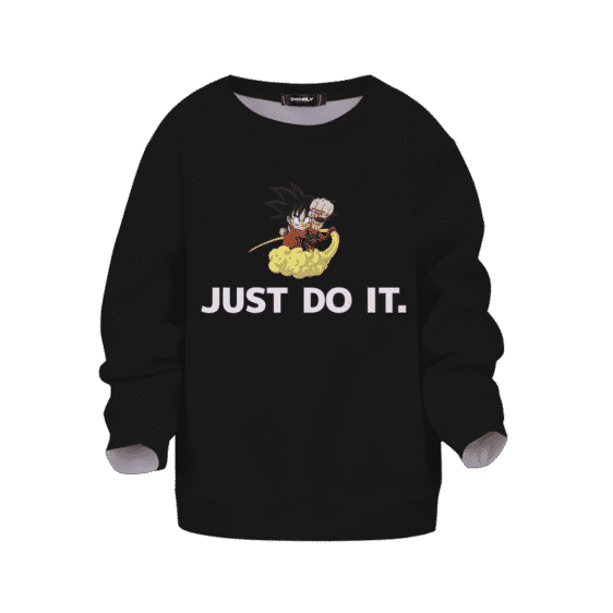 Dragon Ball Z Just Do It Kid Goku Nimbus Black Simple Kids Sweatshirt