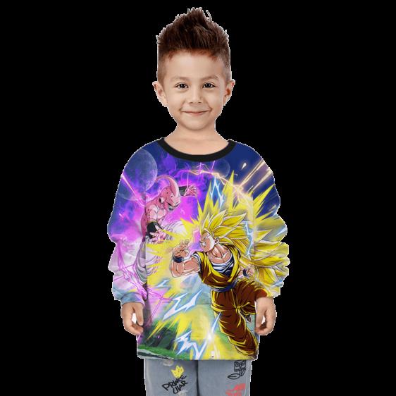 Dragon Ball Z Kid Buu Goku Saiyan 3 Fight Kids Sweatshirt