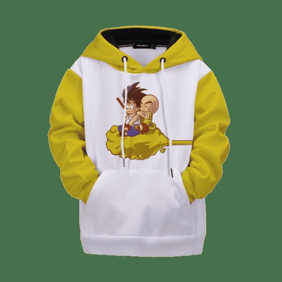 Dragon Ball Z Kid Goku Krillin on Flying Nimbus Kids Hoodie