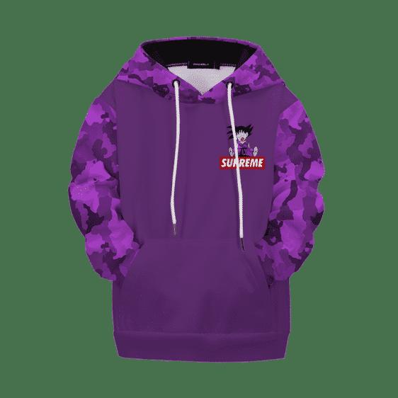 Dragon Ball Z Kid Goku Supreme Purple Camo Kids Hoodie