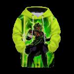 Dragon Ball Z Mad Broly Green Aura Cool Kids Hoodie