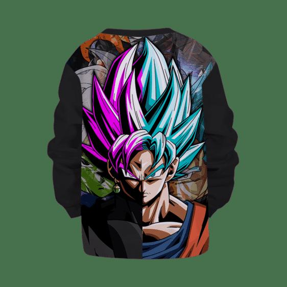 DBZ Goku Black & Goku Blue Fused Children's Sweater