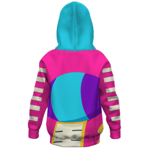 Dragon Ball Z Pink Zeno Symbol Awesome Art Kids Hoodie