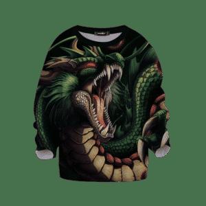 Dragon Ball Z Shenron Scary Awesome Dope Green Kids Sweatshirt