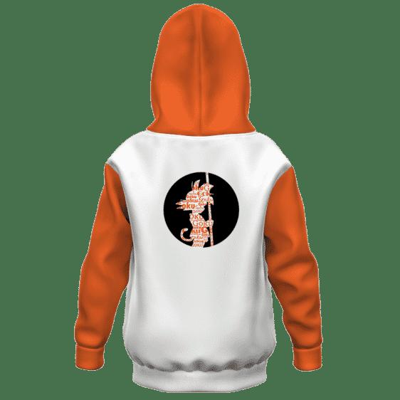 Dragon Ball Z Silhouette Kid Goku Standing Kids Hoodie Back
