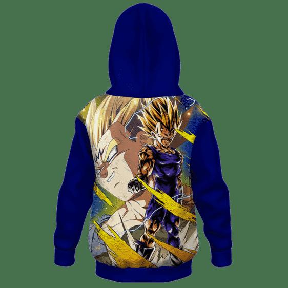 Dragon Ball Z Smirking Majin Vegetta Cool Kids Hoodie- back