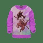 Dragon Ball Z Striking Kid Goku Cool Tie Dye Kid Sweatshirt