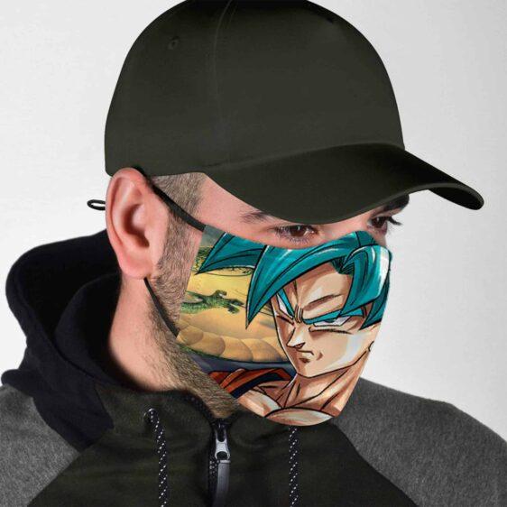 Dragon Ball Z Super Saiyan God SS Angry Goku Face Mask