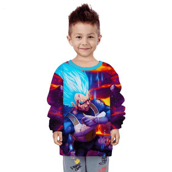 Dragon Ball Z Super Saiyan God Vegeta Kids Pullover Sweater