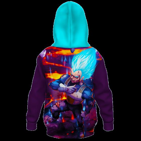 Dragon Ball Z Super Saiyan God Vegeta cool Kids Hoodie Back