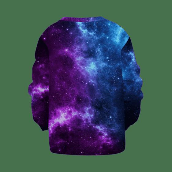 Dragon Ball Z Super Saiyan Prince Majin Vegeta Galaxy Kids Sweatshirt